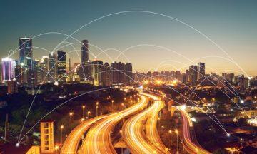 uma cidade conectada por redes sem fio